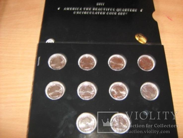 Подарочный набор монет США   2011 год.