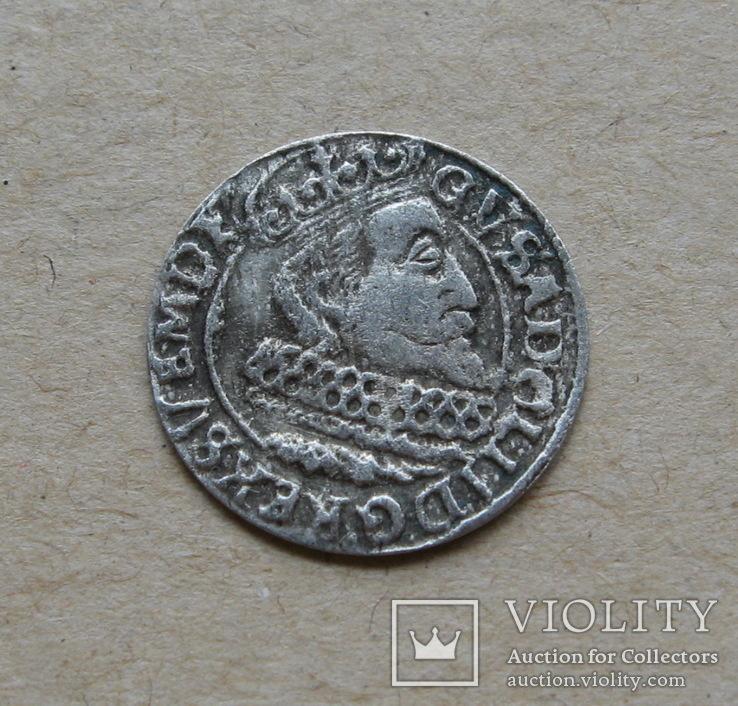 Грош 1632 года. Густав Адольф. Эльбинг.