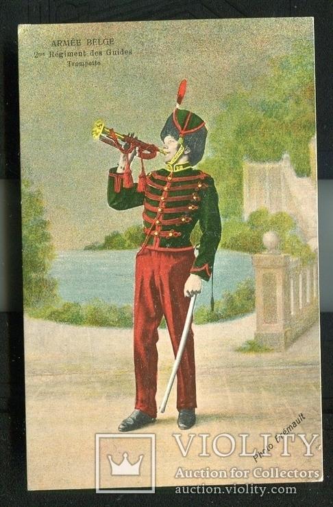 1-я мировая война армия Бельгии Трубач музыкант 1914 г, фото №2