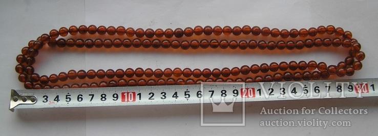 Янтарные бусы 50 грамм, фото №4