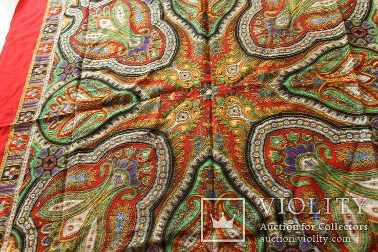 Шерстяной старинный платок№219, фото №4