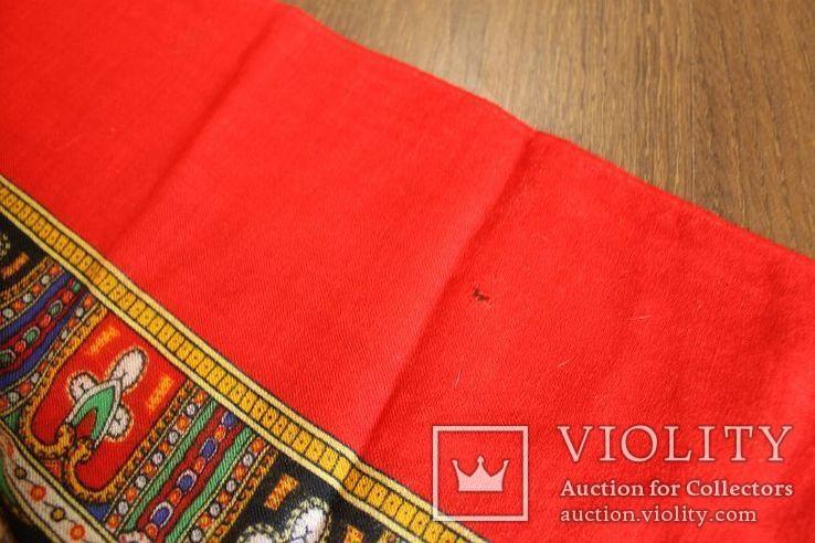 Шерстяной старинный платок№219, фото №8