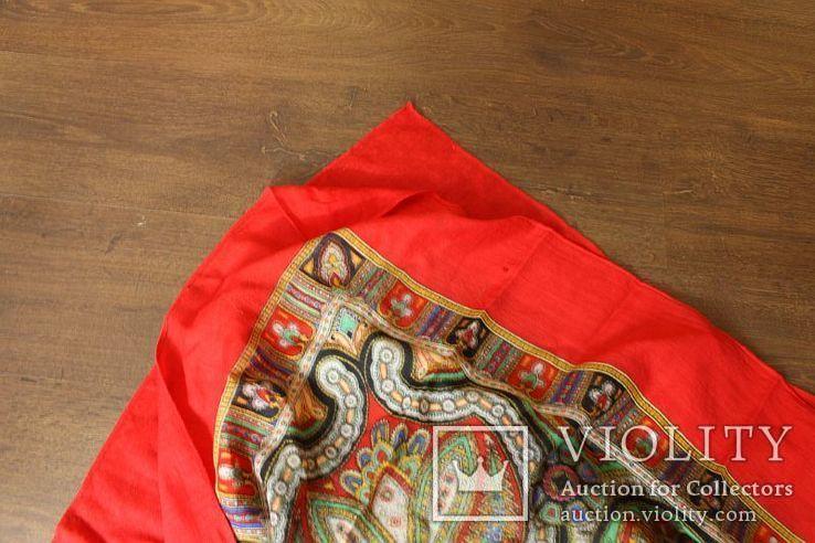 Шерстяной старинный платок№219, фото №13
