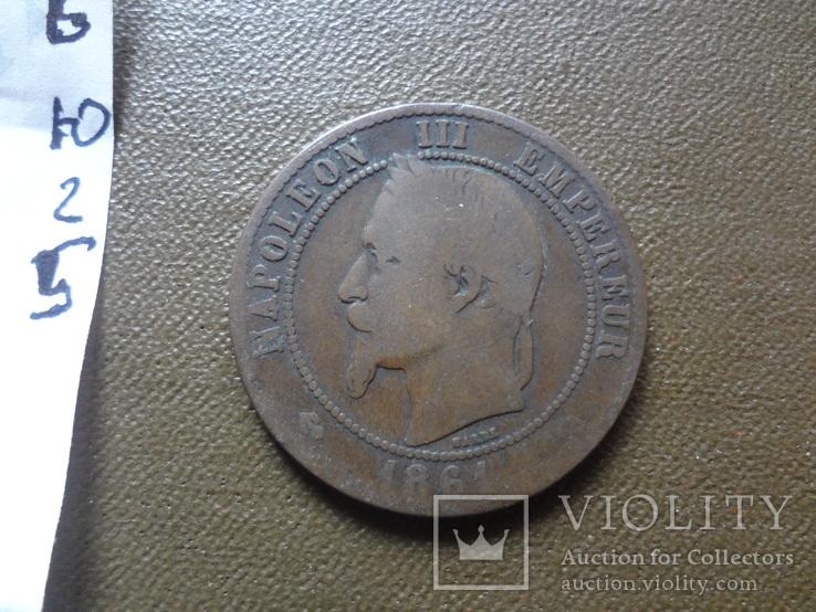 10 сантим 1861 Франция    (Ю.2.6)~, фото №4