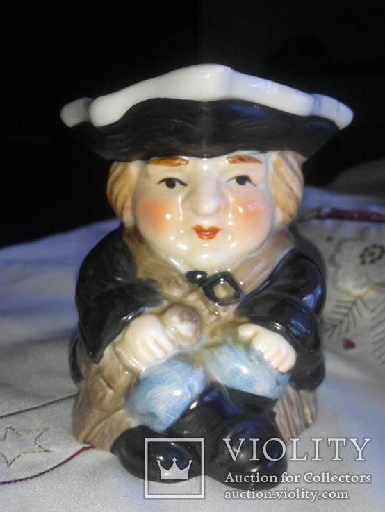 Фигурка- кружка Адмирал Нельсон , сливочница для кофе Leonardo Collection. Фарфор. Англия, фото №2