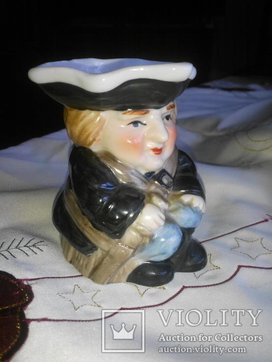 Фигурка- кружка Адмирал Нельсон , сливочница для кофе Leonardo Collection. Фарфор. Англия, фото №4