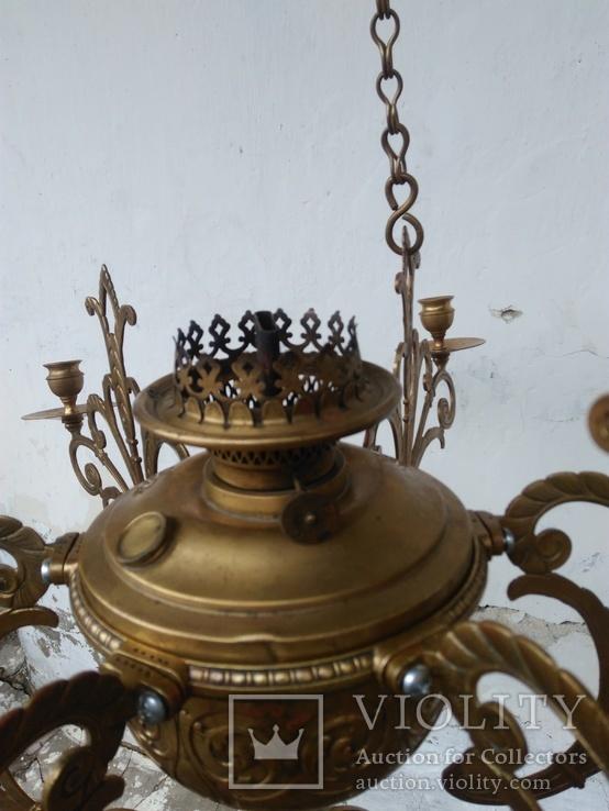 Люстра бронзовая в стиле модерн, фото №7