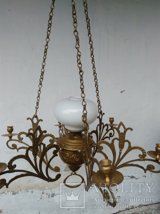 Люстра бронзовая в стиле модерн, фото №8