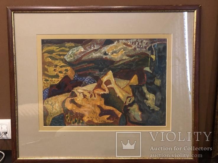 """Зеновій Флінта, картина """"Гірський пейзаж"""", 1966р"""