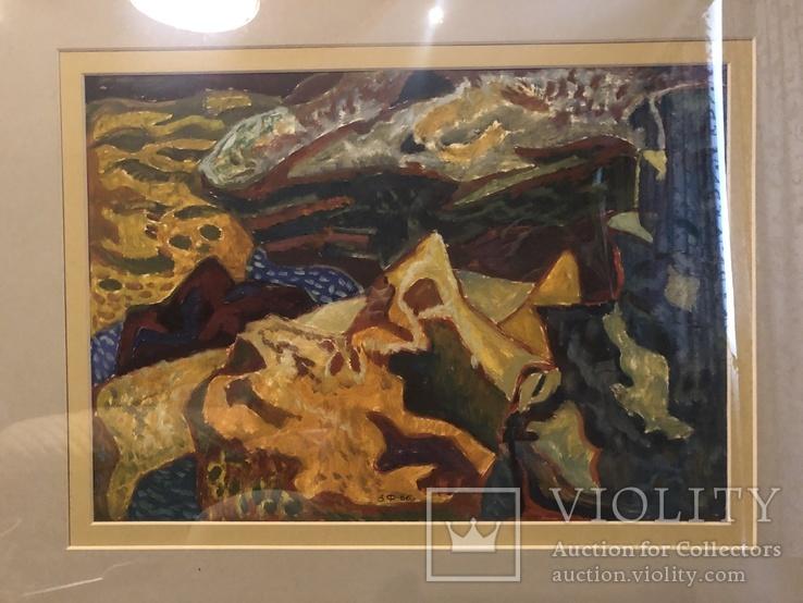 """Зеновій Флінта, картина """"Гірський пейзаж"""", 1966р, фото №4"""