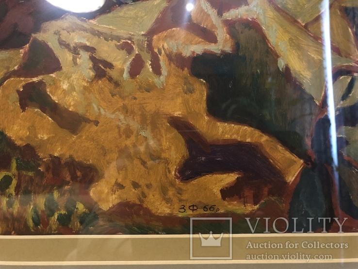 """Зеновій Флінта, картина """"Гірський пейзаж"""", 1966р, фото №6"""