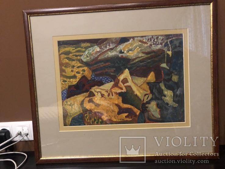 """Зеновій Флінта, картина """"Гірський пейзаж"""", 1966р, фото №7"""