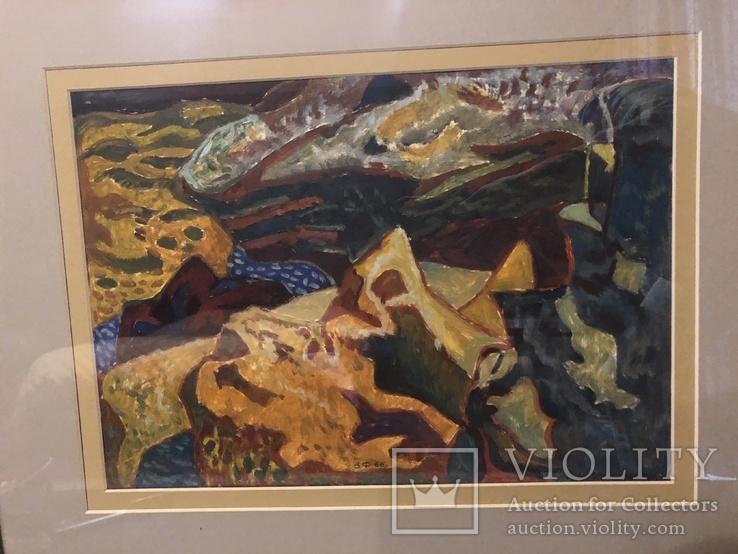 """Зеновій Флінта, картина """"Гірський пейзаж"""", 1966р, фото №8"""
