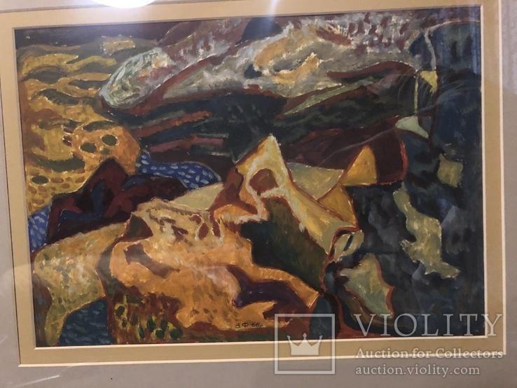 """Зеновій Флінта, картина """"Гірський пейзаж"""", 1966р, фото №9"""