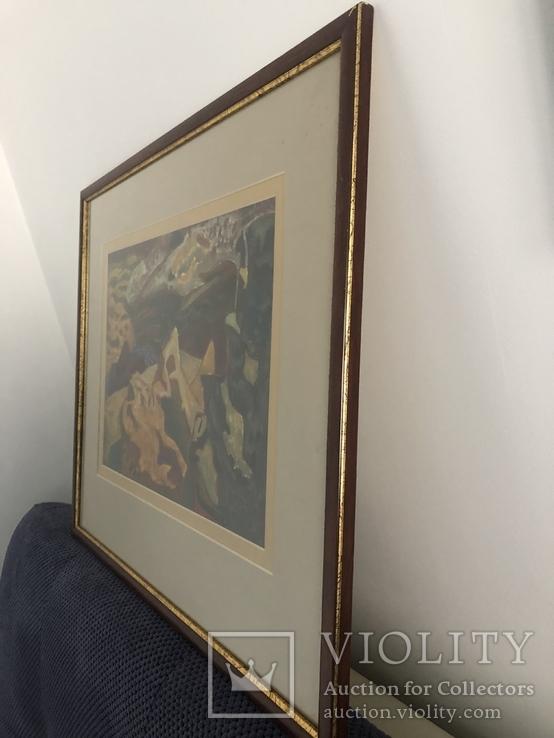 """Зеновій Флінта, картина """"Гірський пейзаж"""", 1966р, фото №10"""