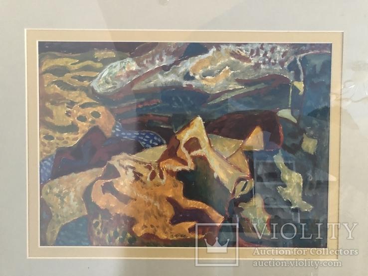 """Зеновій Флінта, картина """"Гірський пейзаж"""", 1966р, фото №12"""