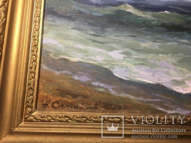 Картина маслом « После дождя» Самойлов 1989 год, фото №3
