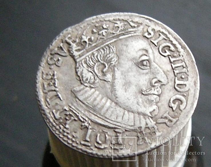 Трояк 1588 год.R8, фото №5