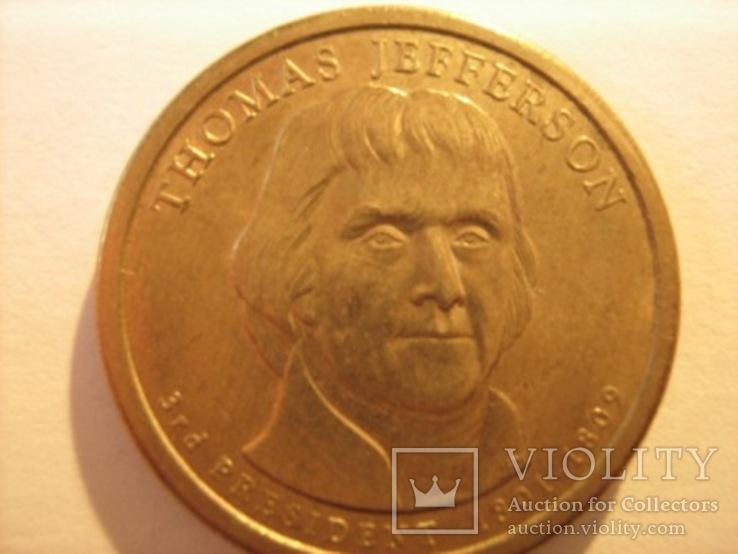1 доллар 2007 - Томас Джефферсон 3 президент
