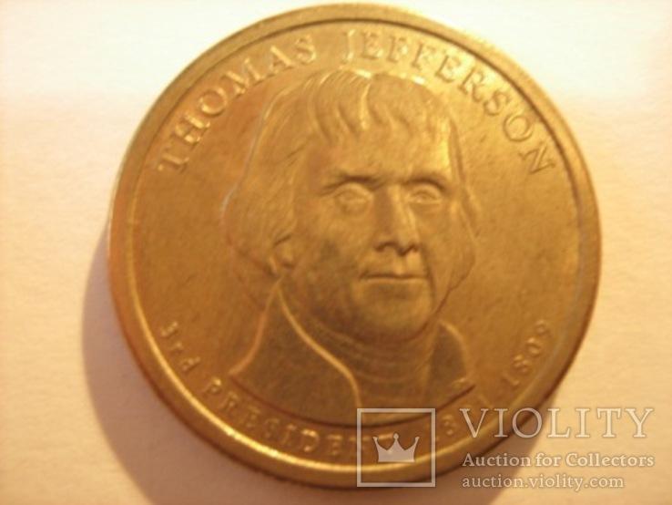 1 доллар 2007 - Томас Джефферсон 3 президент, фото №4