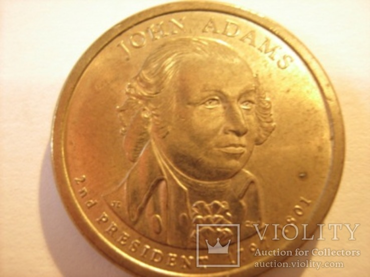 1 доллар 2007 год - Джон Адамс, фото №2