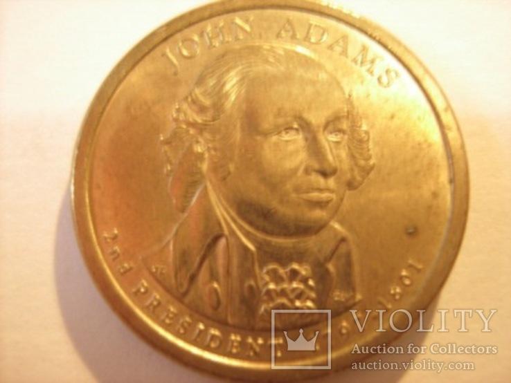 1 доллар 2007 год - Джон Адамс, фото №3