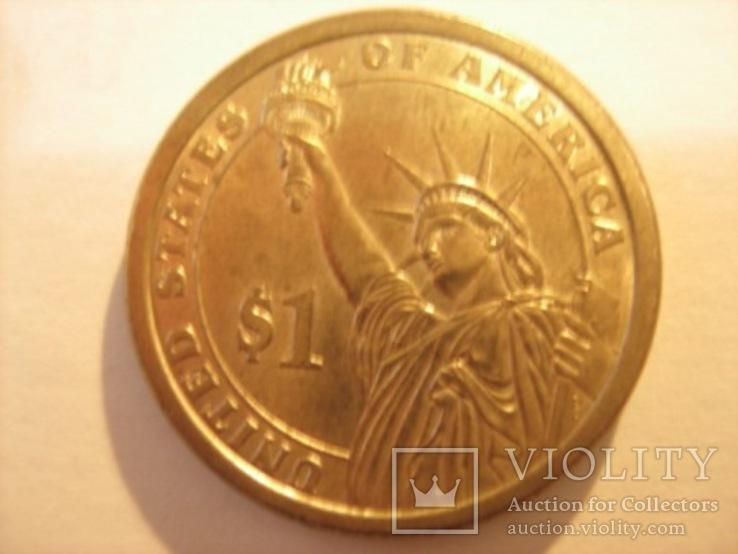 1 доллар 2007 год - Джон Адамс, фото №5