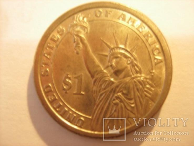 1 доллар 2007 год - Джон Адамс, фото №6