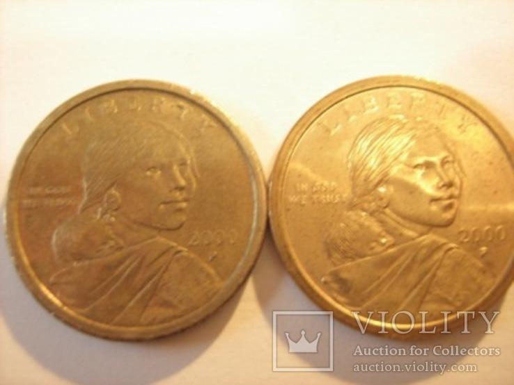 2  доллара Сакагавеи 2000 года, фото №2