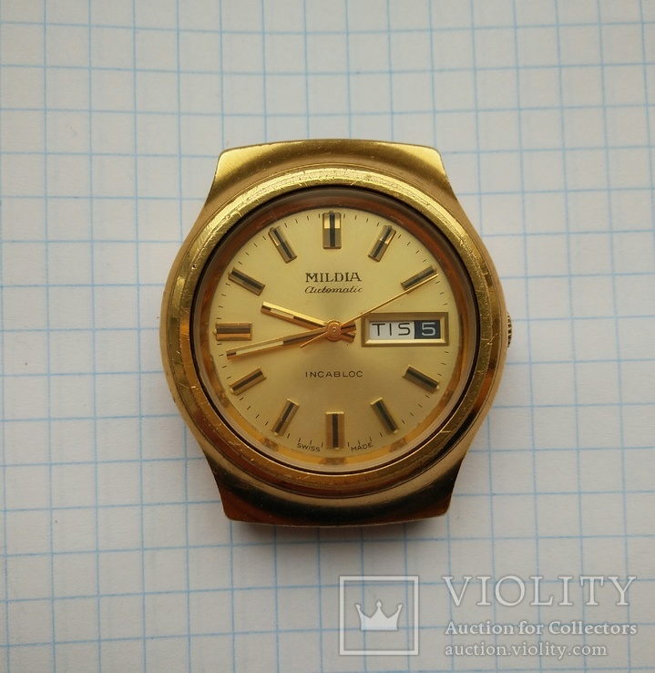 Наручные часы Mildia automatic. Swiss made