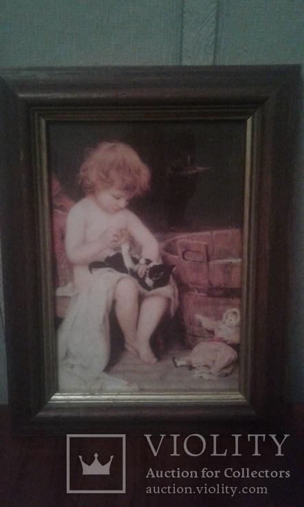 Ігри дитини з котиком, фото №3