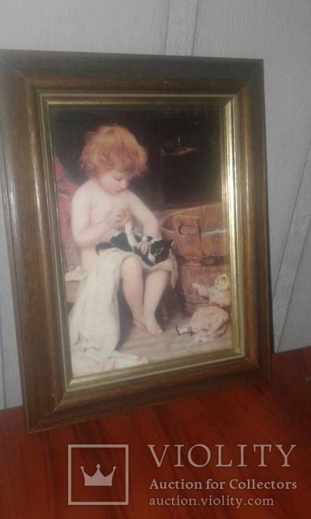 Ігри дитини з котиком, фото №2