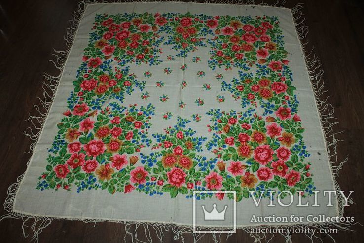 Шерстяной платок №252, фото №2