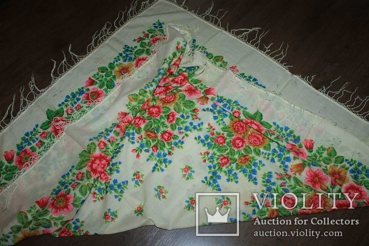 Шерстяной платок №252, фото №13