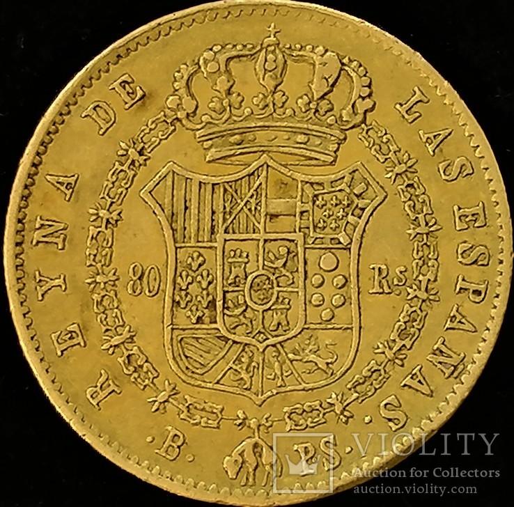 80 реал 1840 року, Іспанія  Ізабелла ІІ