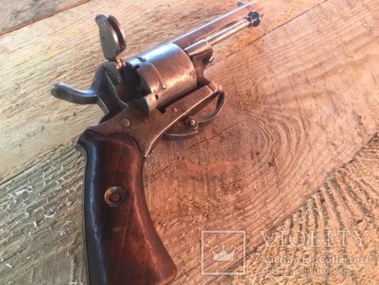 Карманный шпилечный 7мм револьвер системы Лефоше, фото №5
