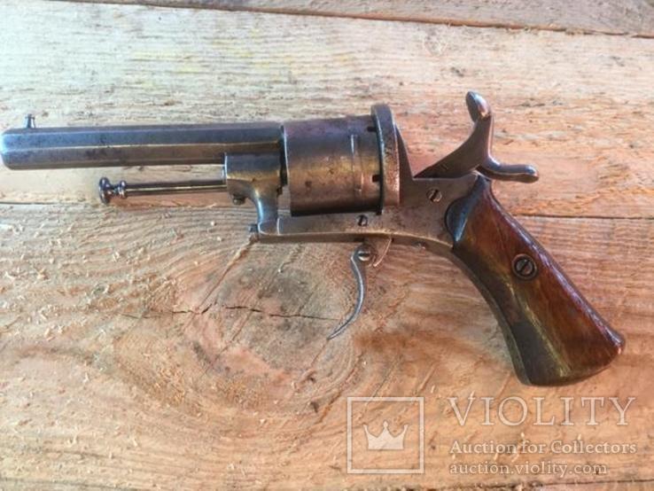 Карманный шпилечный 7мм револьвер системы Лефоше, фото №2
