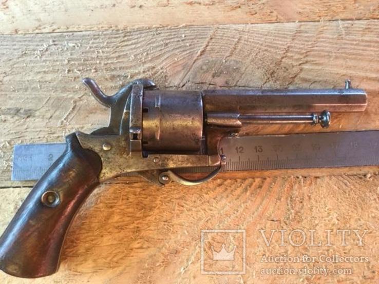 Карманный шпилечный 7мм револьвер системы Лефоше, фото №9