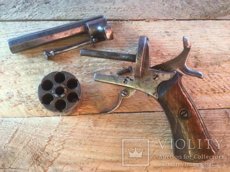 Карманный шпилечный 7мм револьвер системы Лефоше, фото №10