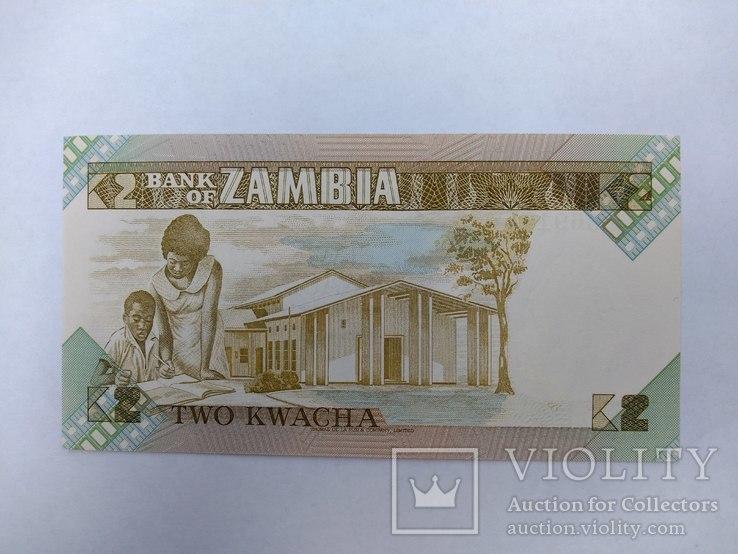 Замбия 2 квача UNC, фото №3