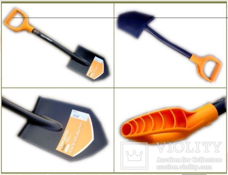 Лопата саперная Fiskars Solid 131417 + Чехол для лопаты пиксель (85 см на всю длину), фото №6