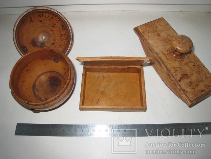 Три дореволюционных предмета из карельской берёзы., фото №3