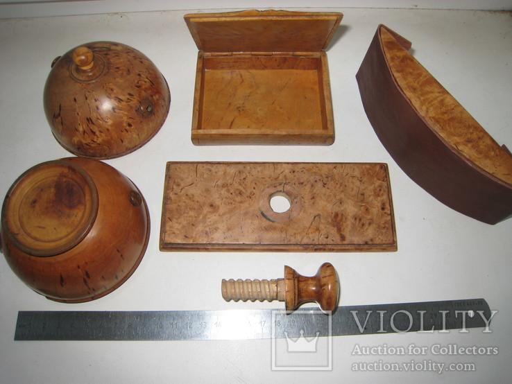Три дореволюционных предмета из карельской берёзы., фото №5