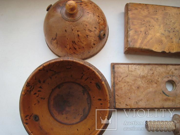 Три дореволюционных предмета из карельской берёзы., фото №8