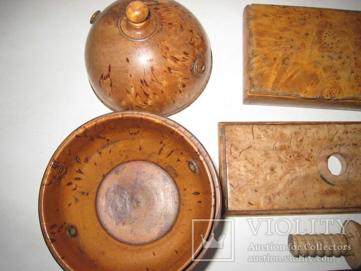 Три дореволюционных предмета из карельской берёзы., фото №9