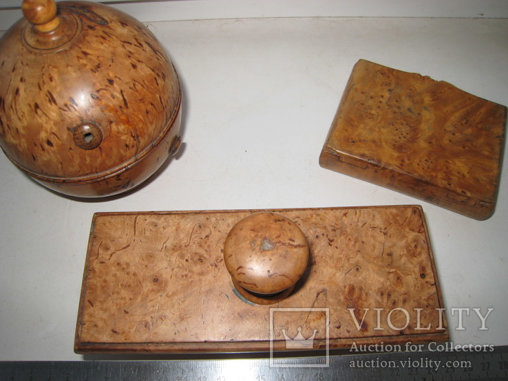 Три дореволюционных предмета из карельской берёзы., фото №13
