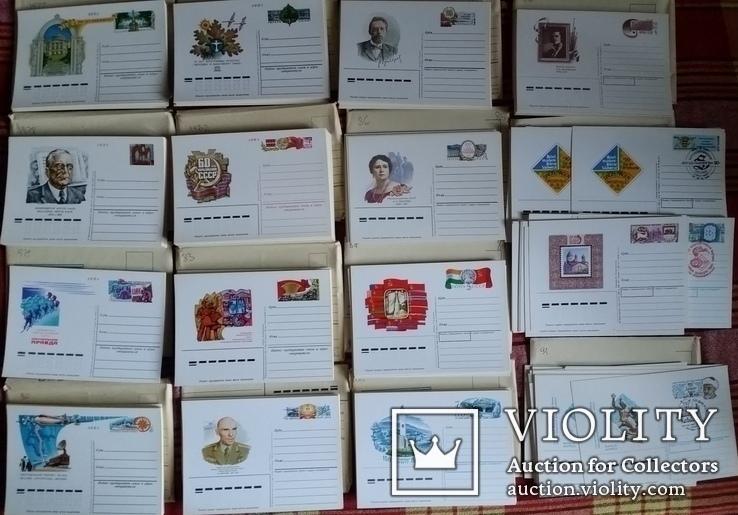 Листівки з оригінальною маркою 1977- 1991рр., 524шт., фото №2