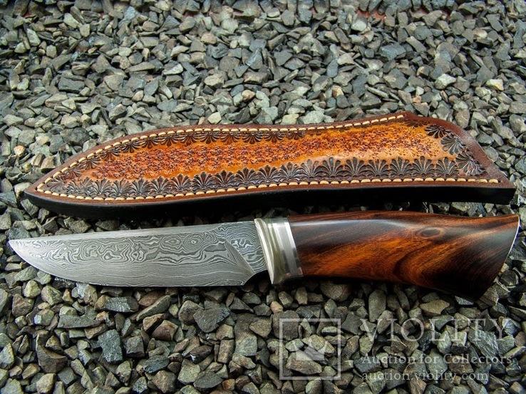 Нож, Ironwood + дамаск ХВГ, 9ХС, У10А, 10% 5ХНМ, фото №7