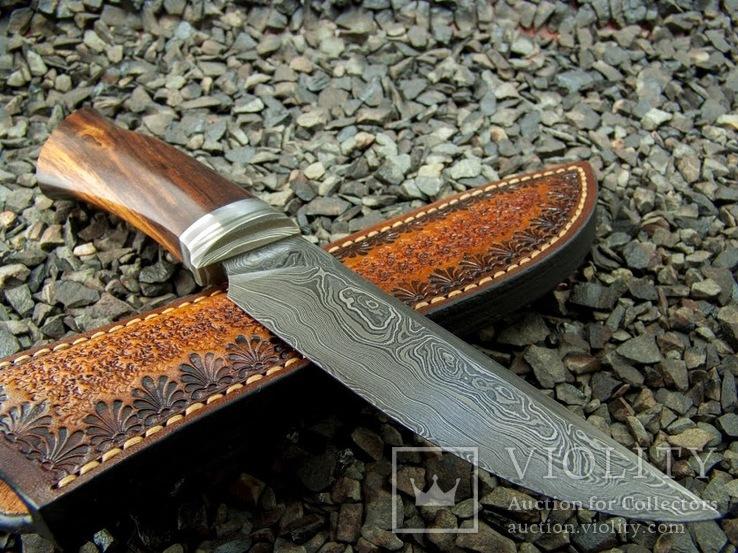 Нож, Ironwood + дамаск ХВГ, 9ХС, У10А, 10% 5ХНМ, фото №9