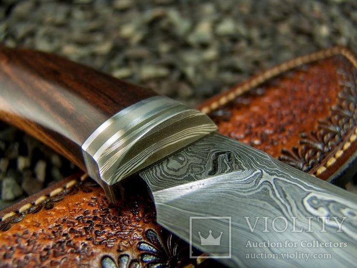 Нож, Ironwood + дамаск ХВГ, 9ХС, У10А, 10% 5ХНМ, фото №10